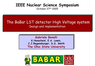 The BaBar LST detector High Voltage system Design and implementation