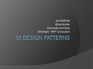 UI Design Patterns