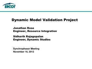 Dynamic Model Validation Project