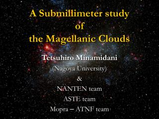 A Submillimeter study of the Magellanic Clouds