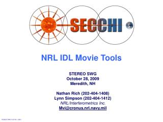 NRL IDL Movie Tools