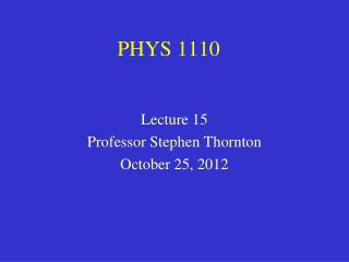 PHYS 1110