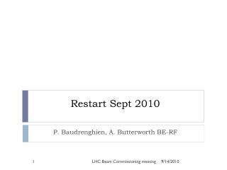 Restart Sept 2010