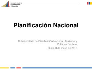 Planificación Nacional