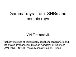 Gamma-rays  from  SNRs and cosmic rays