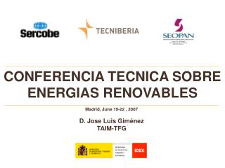 CONFERENCIA TECNICA SOBRE ENERGIAS RENOVABLES