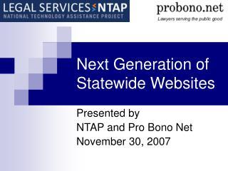 Next Generation of Statewide Websites