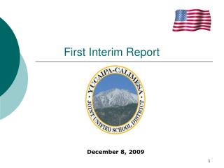 First Interim Report