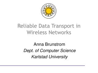 Reliable Data Transport in Wireless Networks