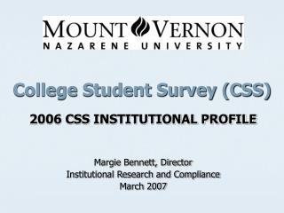 College Student Survey (CSS)