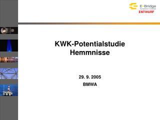 KWK-Potentialstudie Hemmnisse