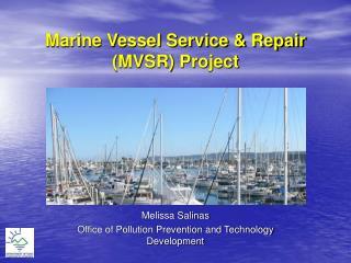 Marine Vessel Service & Repair (MVSR) Project