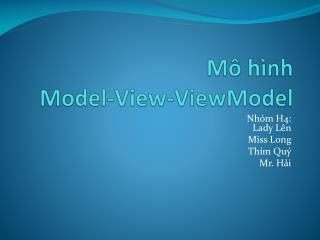 Mô hình Model-View- ViewModel