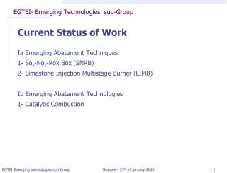 EGTEI- Emerging Technologies  sub-Group