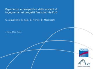 Esperienze e prospettive della società di ingegneria nei progetti finanziati dall'UE