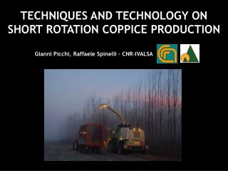 TECHNIQUES AND TECHNOLOGY ON SHORT ROTATION COPPICE PRODUCTION