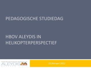 Pedagogische studiedag  HBOV  Aleydis  in helikopterperspectief