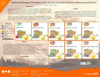 Spatial and Temporal Variations in Fire Hazard Associated with Forest Management Practices