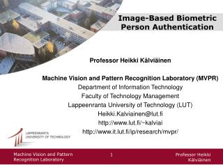 Image-Based Biometric Person Authentication