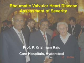 Rheumatic Valvular Heart Disease Assessment of Severity