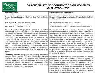 F-25 CHECK LIST DE DOCUMENTOS PARA CONSULTA  (BIBLIOTECA)  735
