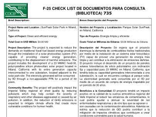 F-25 CHECK LIST DE DOCUMENTOS PARA CONSULTA  (BIBLIOTECA)  735