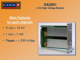 SA2001  2 Ch High Voltage Module