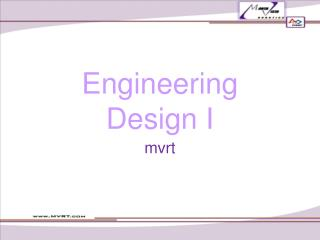 Engineering Design I