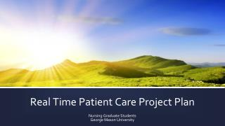 Real Time Patient Care Project Plan