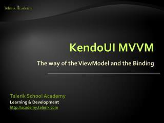 KendoUI MVVM
