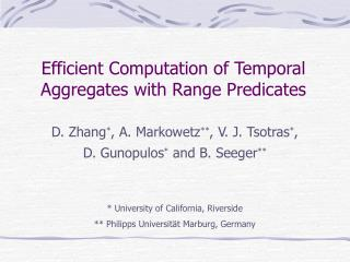 Efficient Computation of Temporal Aggregates with Range Predicates