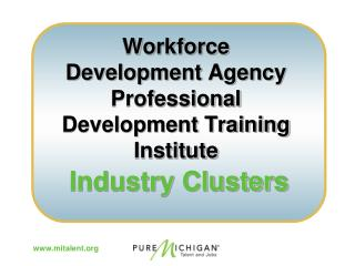 Workforce Development Agency  Professional Development Training Institute