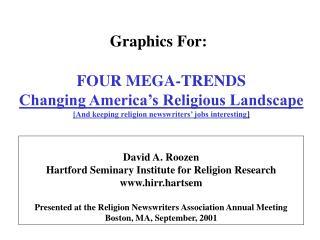 David A. Roozen                 Hartford Seminary Institute for Religion Research