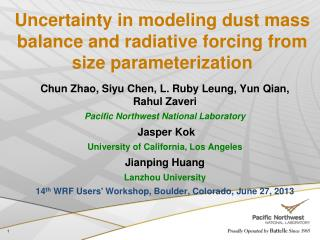 Uncertainty in modeling dust mass balance and radiative forcing from size parameterization