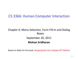 CS 3366: Human Computer Interaction