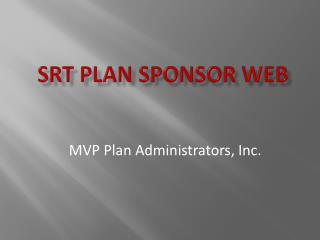 SRT Plan Sponsor WEB