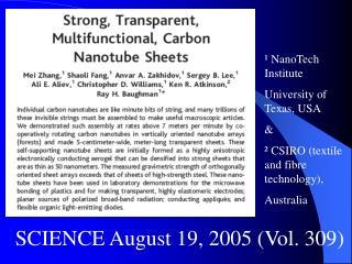 SCIENCE August 19, 2005 (Vol. 309)