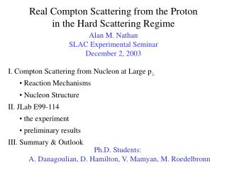 Real Compton Scattering from the Proton in the Hard Scattering Regime