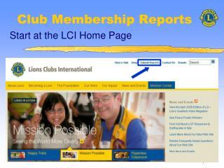 Club Membership Reports
