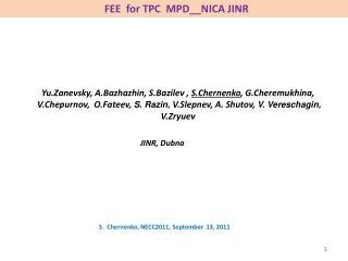 FEE  for TPC  MPD__NICA JINR