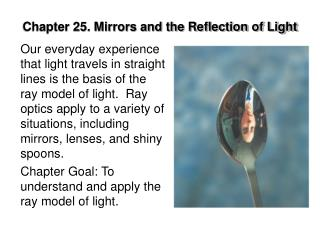 Chapter 25. Mirrors and the Reflection of Light
