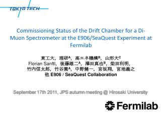 September  17th  2011,  JPS  autumn meeting @ Hirosaki University