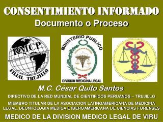 CONSENTIMIENTO INFORMADO Documento o Proceso
