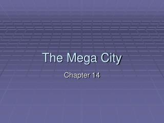 The Mega City