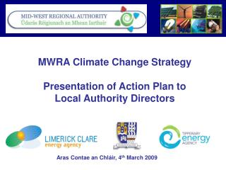 MWRA Climate Change Strategy Presentation of Action Plan to  Local Authority Directors
