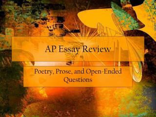 AP Essay Review