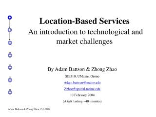 Location-Based Services An introduction to technological and market challenges