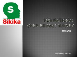 Sub-national  open budget survey