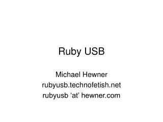 Ruby USB