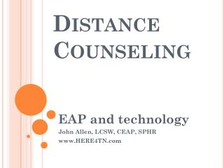 Distance Counseling